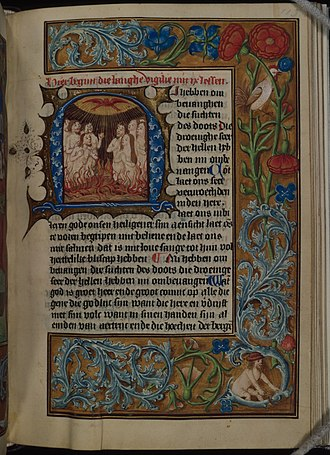 Evergreen Museum & Library - Late 15th century Dutch book of hours from the John Work Garrett Library