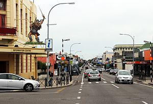 Dannevirke - Dannevirke High Street in May 2016
