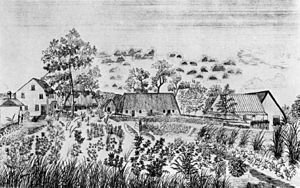 David Belden Lyman - First campus of the school in 1836