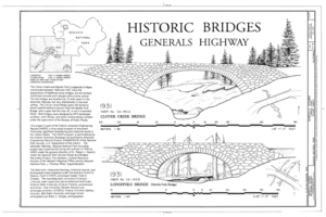 Generals' Highway Stone Bridges - Drawing from the Historic American Engineering Record