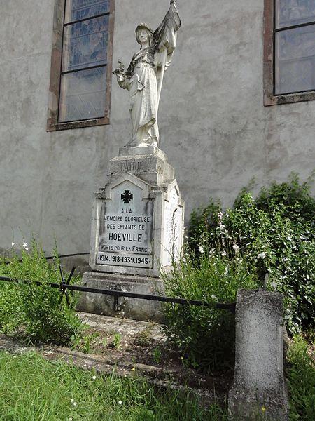 Hoéville (M-et-M) monument aux morts
