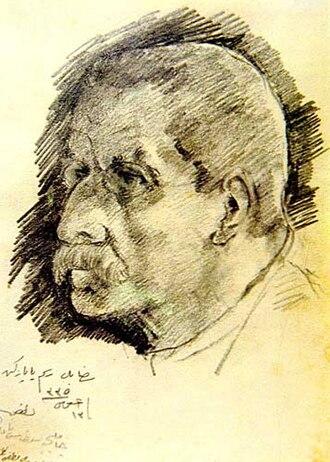Hoca Ali Rıza - Self-portrait (1909)
