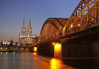 Hohenzollern Bridge - Hohenzollern Bridge, with Cologne Cathedral and Museum Ludwig in the background