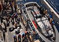 Hoisting down landing craft aboard USS Carter Hall DVIDS120590.jpg