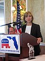 Holly Benson, a Republican candidate for attorney general, speaking at a Capital City Republican Club luncheon.jpg