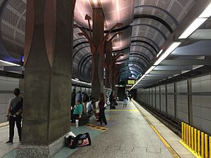 Hollywood/Highland station - Image: Hollywood Highland platform 2016