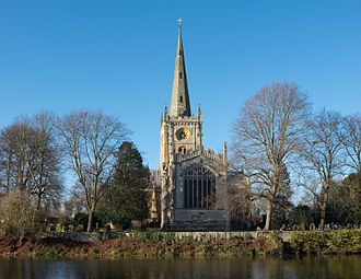 William Shakespeare - Holy Trinity Church, Stratford-upon-Avon, where Shakespeare was baptised and is buried