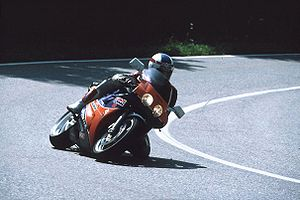 Honda VFR750R - A Honda VFR750R (RC30) racing on the Isle of Man in 1992