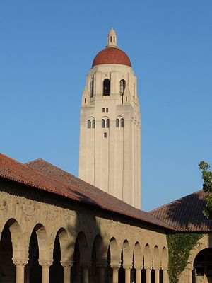 Hoover Tower as seen from the Stanford Univers...