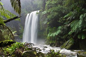 Conservation (ethic) - Much attention has been given to preserving the natural characteristics of Hopetoun Falls, Australia, while allowing access for visitors