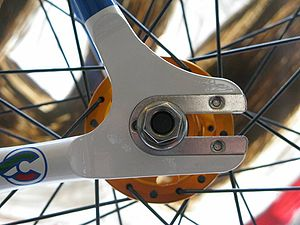 Fork end - Horizontal rearward-facing track fork end (not a dropout)