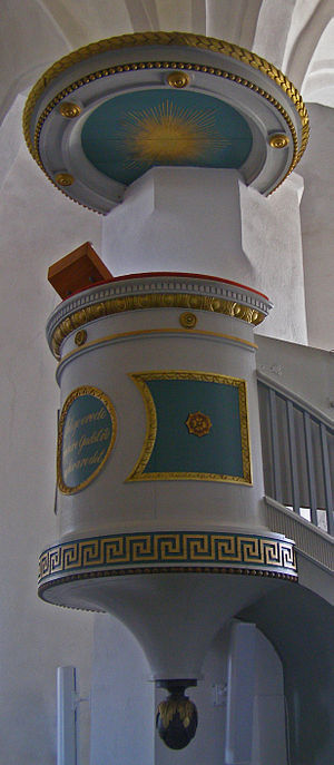 Horne Church - Horne Church pulpit.