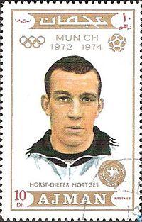 Horst-Dieter Höttges 1971 Ajman stamp.jpg