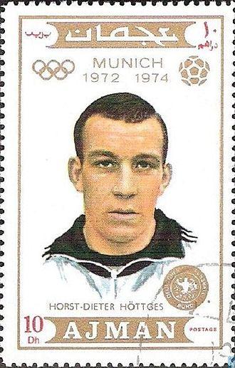 Horst-Dieter Höttges - Image: Horst Dieter Höttges 1971 Ajman stamp