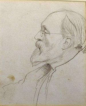 George Howard, 9th Earl of Carlisle - George Howard as sketched by Edward Burne-Jones. Drawing in the Delaware Art Museum