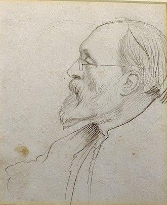 George Howard, 9th Earl of Carlisle - George Howard as sketched by Edward Burne-Jones. Drawing in the Delaware Art Museum