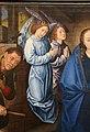 Hugo van der Goes, adorazione dei pastori tra due profeti, 1480 ca. 08.JPG