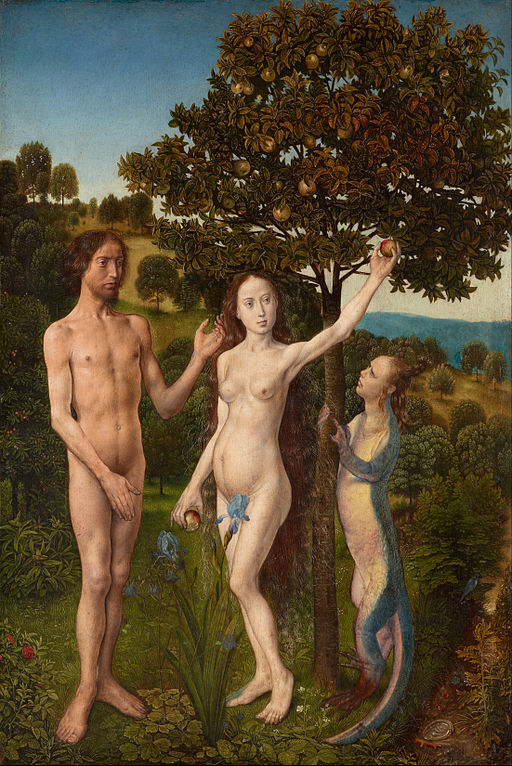 Hugo van der Goes - The Fall of Man and The Lamentation - Google Art Project