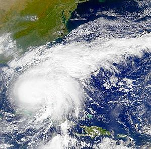 Hurricane Irene (1999) - Hurricane Irene near landfall in Florida.