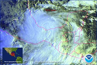 Hurricane Stan - Hurricane Stan making landfall in Veracruz