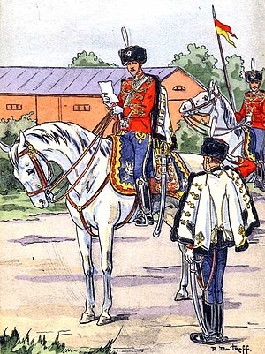 Imperial Guard (Russia) -  His Majesty's Life-Guards Hussar Regiment, 1914