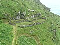 Hut foundations, Tintagel Island - geograph.org.uk - 1385522.jpg