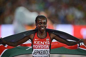 2015 World Championships in Athletics – Women's 3000 metres steeplechase - Winner Hyvin Jepkemoi