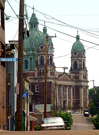 Polish Cathedral style - Immaculate Heart of Mary Church on Polish Hill in Pittsburgh