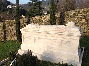Ouida - Tomb of Ouida in Bagni di Lucca's English cemetery