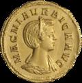 INC-1606-a Ауреус Магния Урбика ок. 283-285 гг. (аверс).png