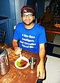 I was born intelligent. T-shirt. Chennai, India. 2010.jpg