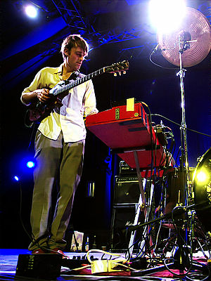 Battles (band) - Ian Williams at the 2008 Moers Festival.