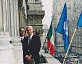 Il presidente di OCCAM - Osservatorio per la Comunicazione Digitale assieme a Staffan de Mistura, presso la prima sede dell'Osservatorio in Piazza Duomo a Milano, in occasione della Festa delle Nazioni Unite.jpg