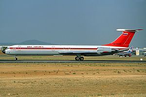 VIM Airlines - A now retired Ilyushin Il-62M, VIM Airlines' first aircraft.