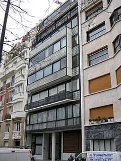 Apartment building in Paris designed by Le Corbusier and Pierre Jeanneret