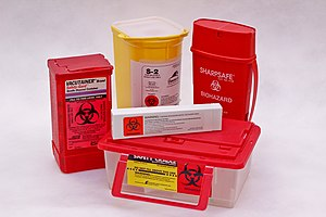 Puncture resistance - Sharp waste is put in puncture resistant containers to help protect medical personnel