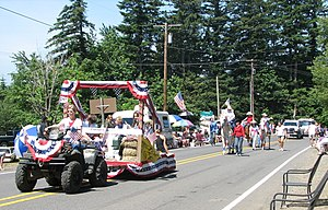 The Independence Day parade on the Historic Co...