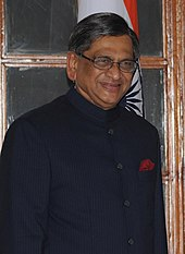 A color photo of the Indian External Affairs Minister S. M. Krishna