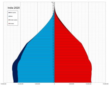 India enkele leeftijdspiramide 2020.png