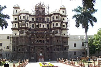 Holkar - The gate of Rajwada, royal palace of the Holkar dynasty, Indore.