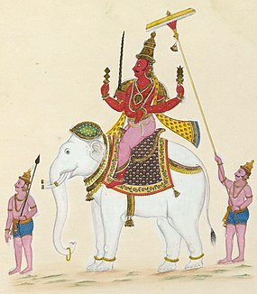 Indra deity found in Hinduism, Buddhism and Jainism