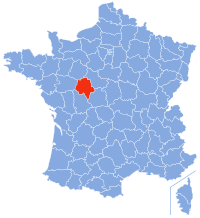 Location of Indre-et-Loire in France