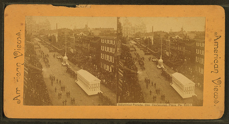 File:Industrial parade, Con. Centennial, Philadelphia, Pa., 1887, from Robert N. Dennis collection of stereoscopic views 2.jpg