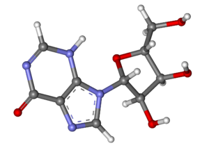Inosine - Image: Inosine ball and stick