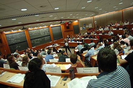 Inside a Harvard Business School classroom., From WikimediaPhotos