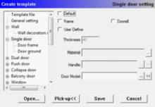 InteriCADT6 single door setting.png