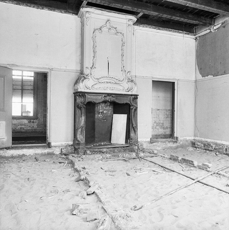 interieur schouw linker voorkamer begane grond gouda 20081616 rce