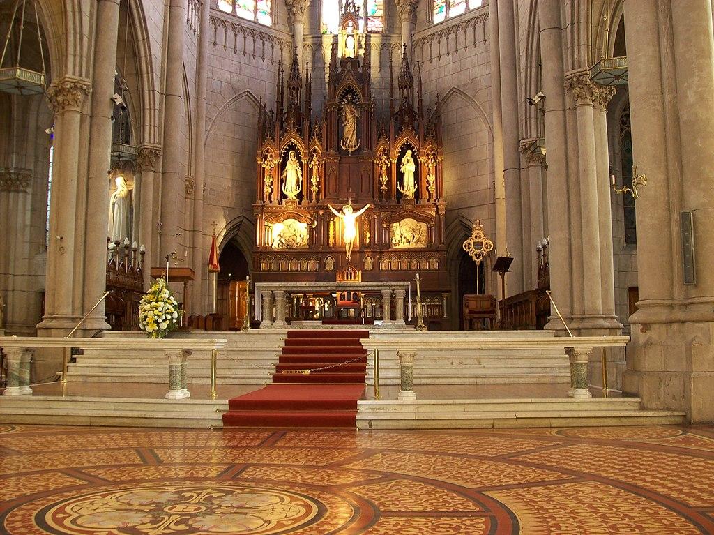 File Interior De La Catedral De Mar Del Plata Jpg