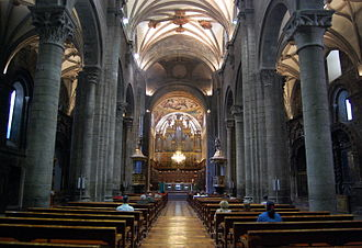 Jaca Cathedral - Interior of the cathedral.