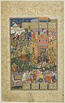 Islamic - Zal Climbing to Rudaba, page from a copy of the Shahnama of Firdausi - 1983.627 - Art Institute of Chicago.jpg